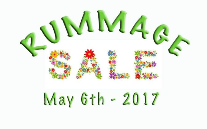Annual Rummage Sale – Saturday, May 6, 2017
