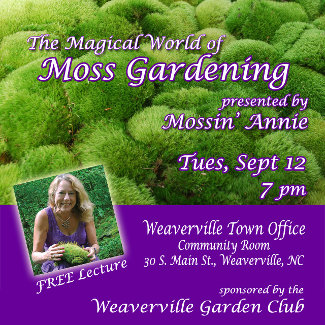 Annie Martin, Nationally Recognized Moss Landscape Designer And Author Of  The Magical World Of Moss Gardening (Timber Press, 2015), Introduces The  Joys And ...